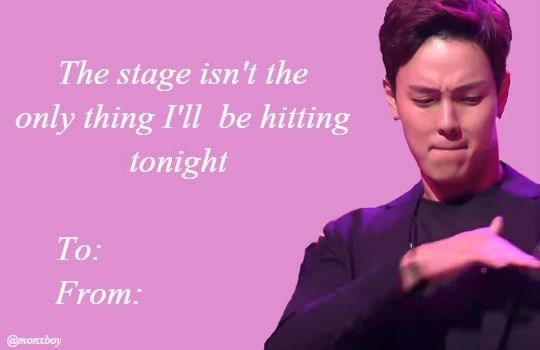 Shownu Kpop Valentines   oh hell yes       | Monsta X in