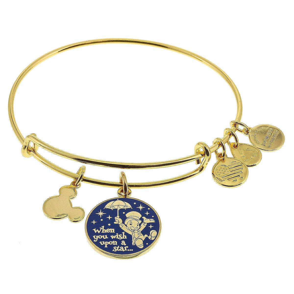 Jiminy Cricket When You Wish Upon A Star Bangle By Alex - Alex and ani cruise ship bangle