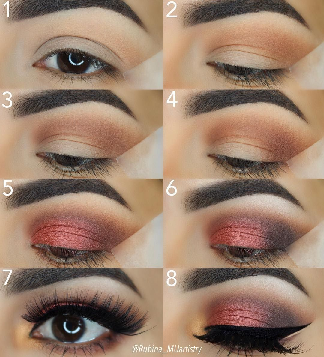 Step by Step of my previous post 💕 EYESHADOWS