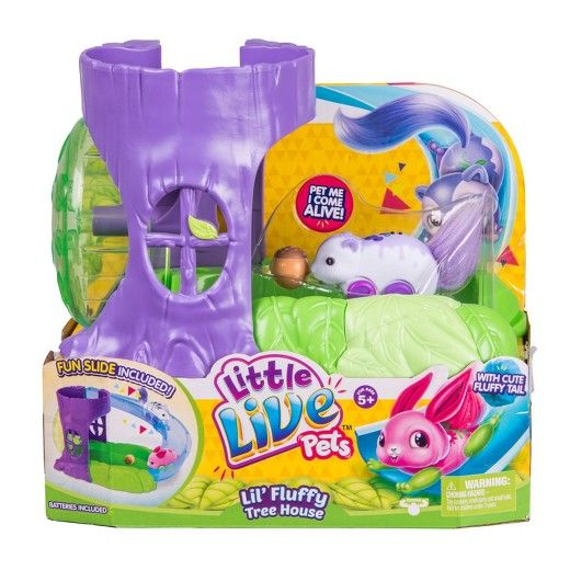 Little Live Pets Lil' Fluffy Tree House Playset Berry