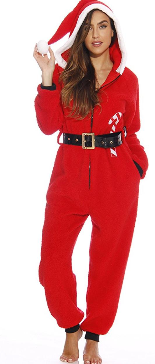 8985de1b6 followme Adult Christmas Onesie for Women Sherpa One-Piece Pajamas Xmas