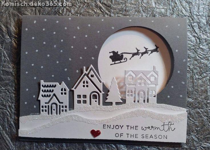 Elegante Stampin Up!, Weihnachten, Schmiegen kommen nachdem Hause #stampinup!cards