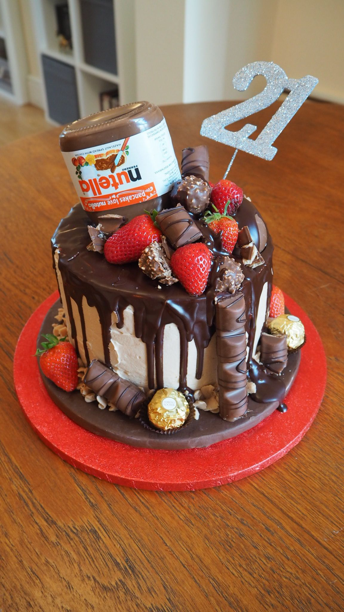 Nutella Chocolate Drip Cake Nutella Birthday Cake Birthday Cake