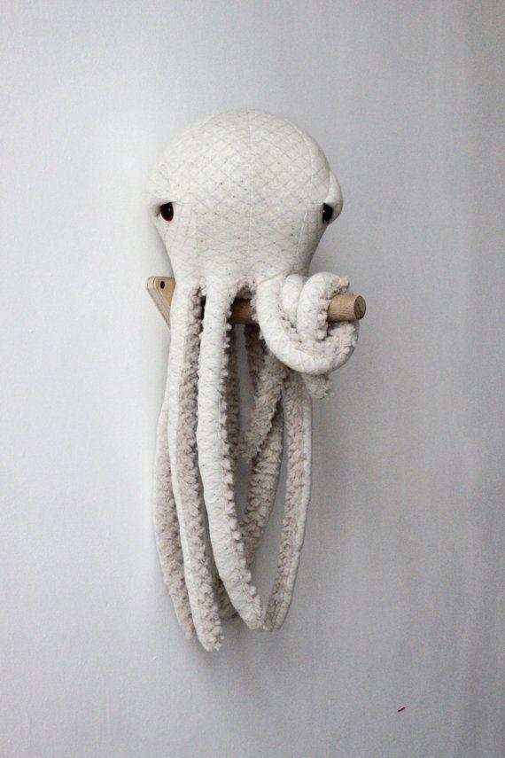 Small Albino Octopus – Handmade Plush toy