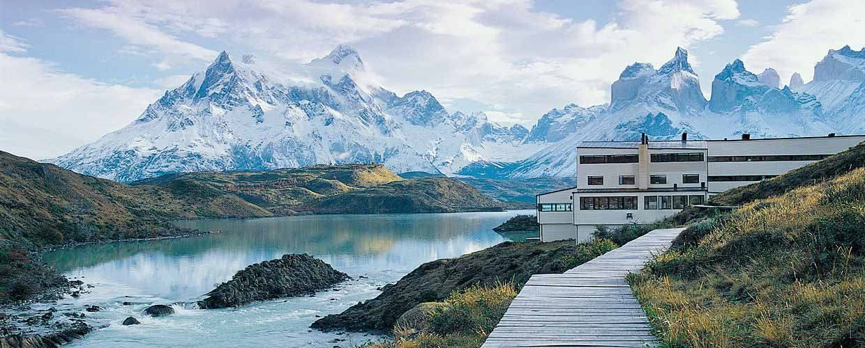 Torres del Paine Park and explora Patagonia in winter. Nature and adventure