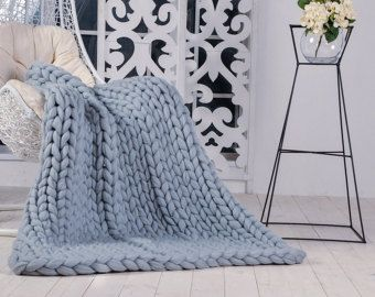 super grosse couverture en tricot jeter giganto par knitcoutureco plaid pinterest grosse. Black Bedroom Furniture Sets. Home Design Ideas