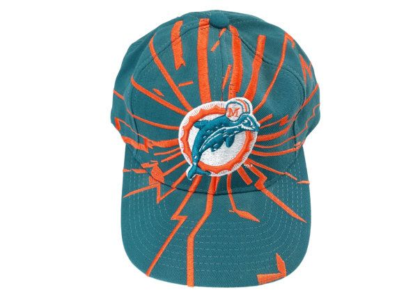 c6f9fdd764203 Vintage Starter Miami Dolphins Snapback Hat 90s by EclecticEmbrace