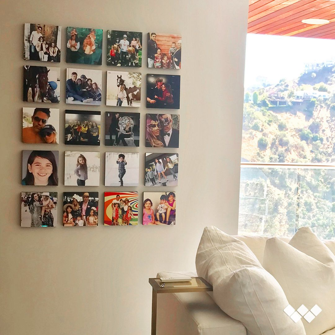 Stickable Photo Tiles For Walls