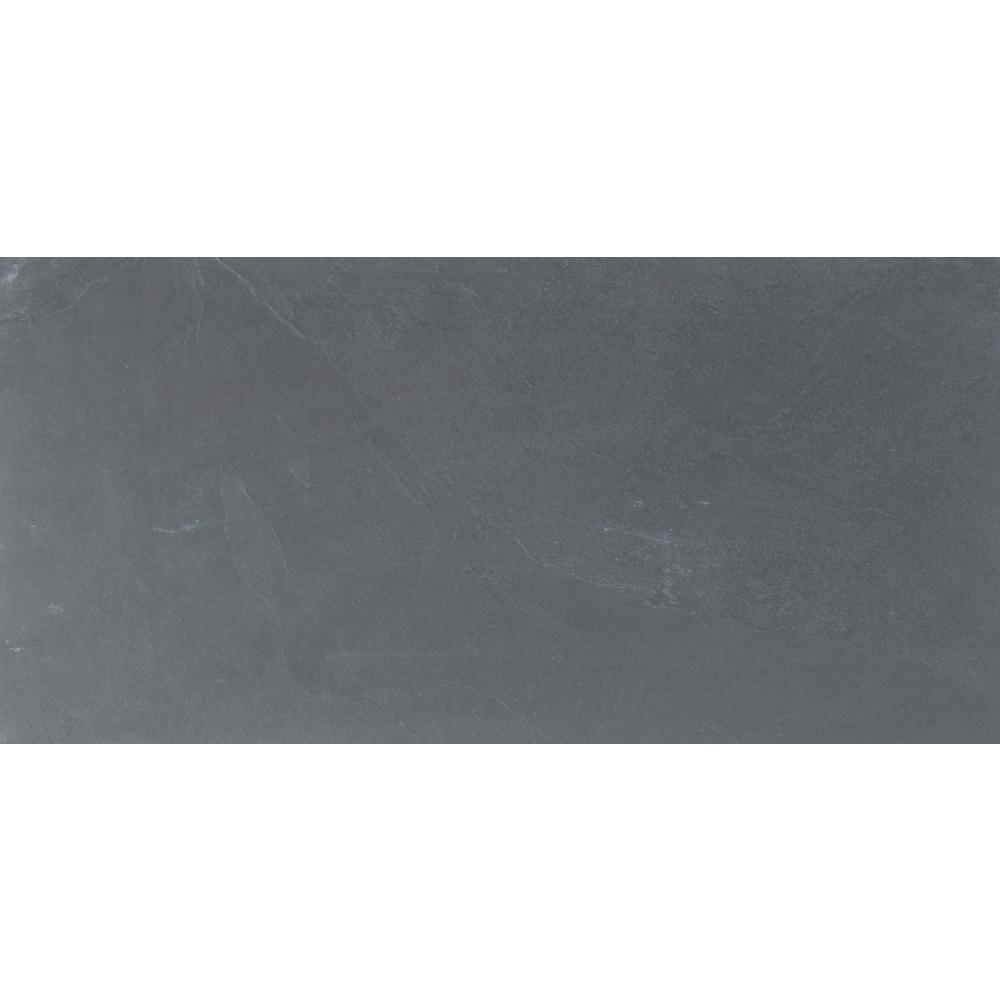 Msi Montauk Blue 12 In X 24 In Gauged Slate Floor And Wall Tile 10 Sq Ft Case Slate Flooring Wall Tiles Slate Wall Tiles