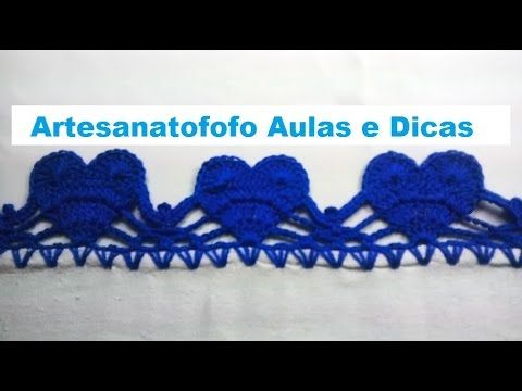 Barradinho De Croche Facil De Fazer Coracao Bicos De Croche