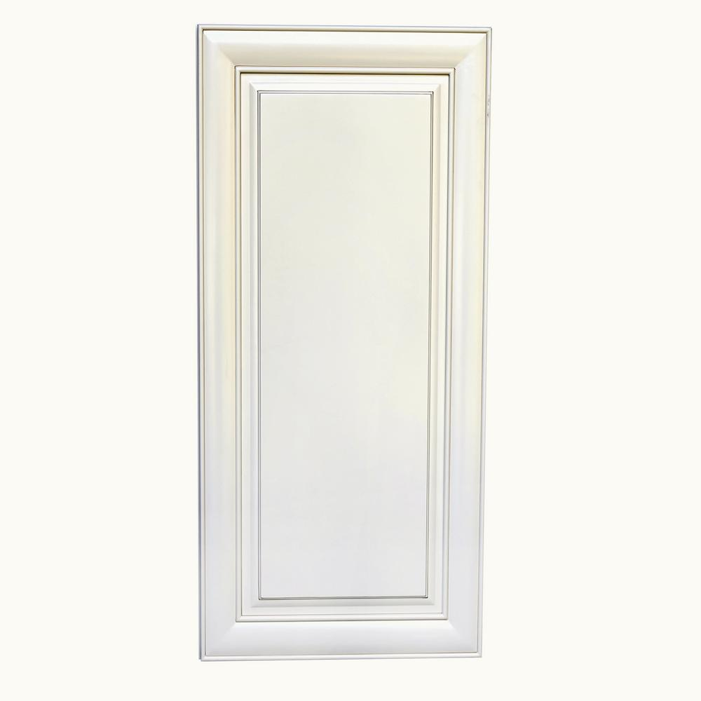 Plywell Ready To Assemble 9x42x12 In High Single Door Wall Cabinet In Antique White Awxw0942 The Home Depot Antique White Cabinets Single Doors Wall Cabinet