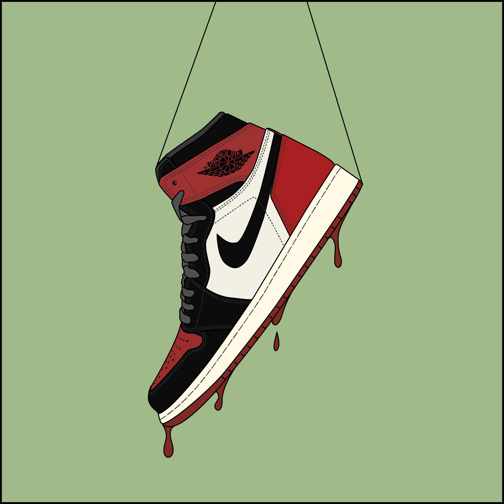 Air Jordan1 Nike Art Sneaker Art Nike Drawing