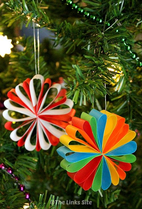 Beautiful Paper Christmas Decorations Paper Christmas Decorations Christmas Decorations For Kids Easy Christmas Decorations