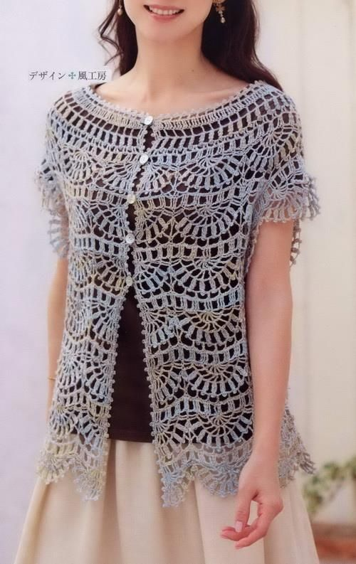 Crochet Lace Tunic Pattern - Delicate Crochet for Spring ...