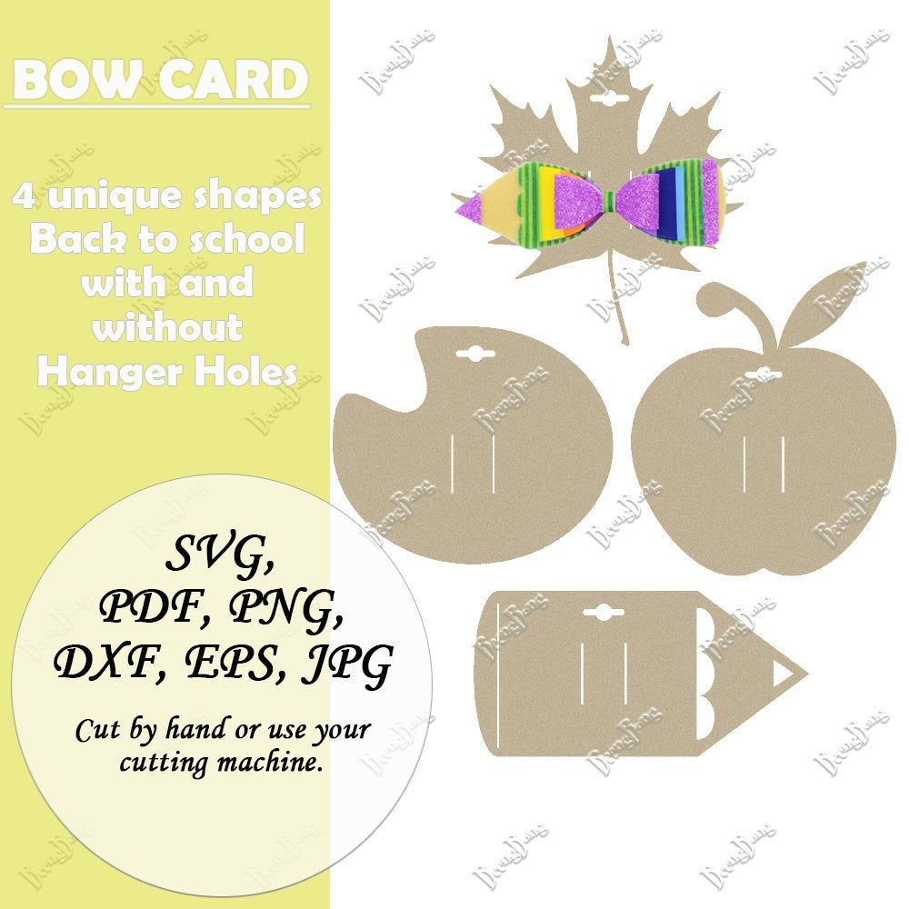 Fall Festival Bow Display Card Template Svg Hair Clip Display Etsy Display Cards Bow Display Cards