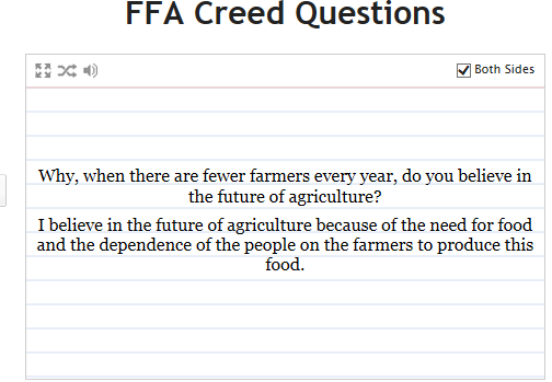 FFA creed. I can recite all 5 paragraphs word for word | FFA ...