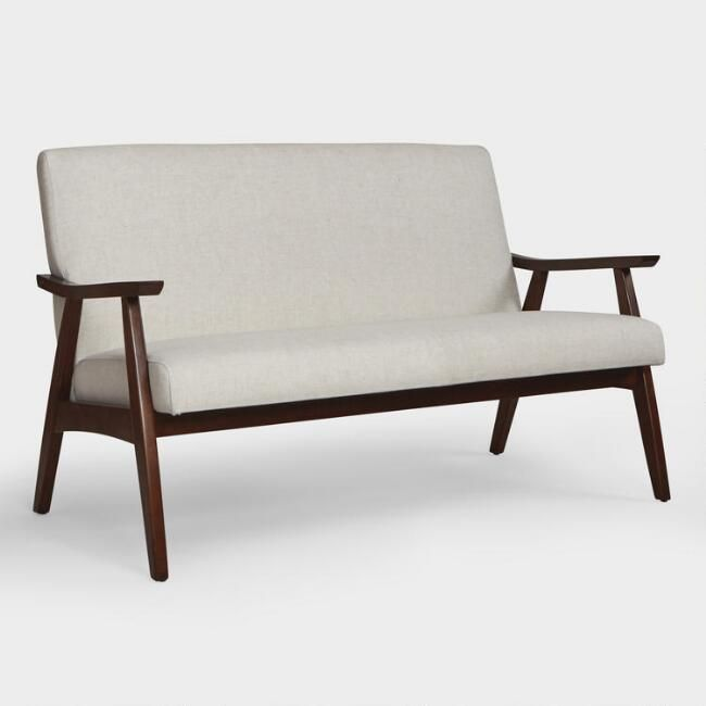 Unique Affordable Furniture: Linen Woven Kinley Upholstered Loveseat: Natural