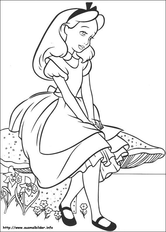 Alice Im Wunderland Malvorlagen Acoloring Pages Coloring Pages