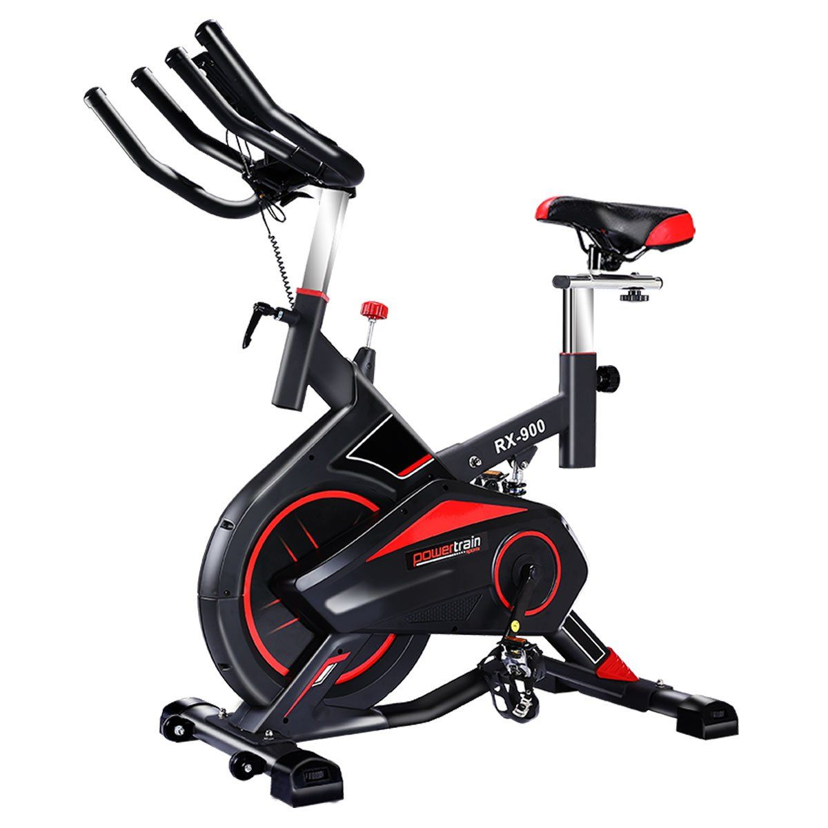 Powertrain Rx 900 Exercise Spin Bike Cardio Cycle Red With Images Spin Bike Workouts Bike Spin Bikes