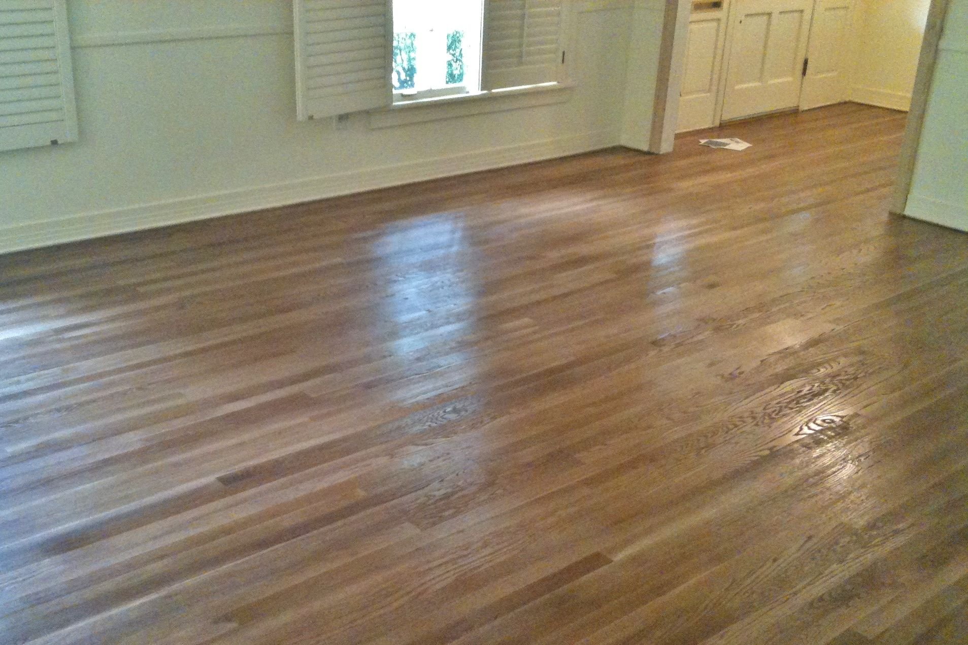 Minwax Special Walnut Stain On Oak Hardwood Floors