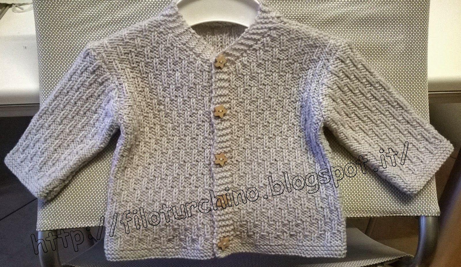 Filoturchino Golfini Neonato Tricot E Crochet Bambini Baby