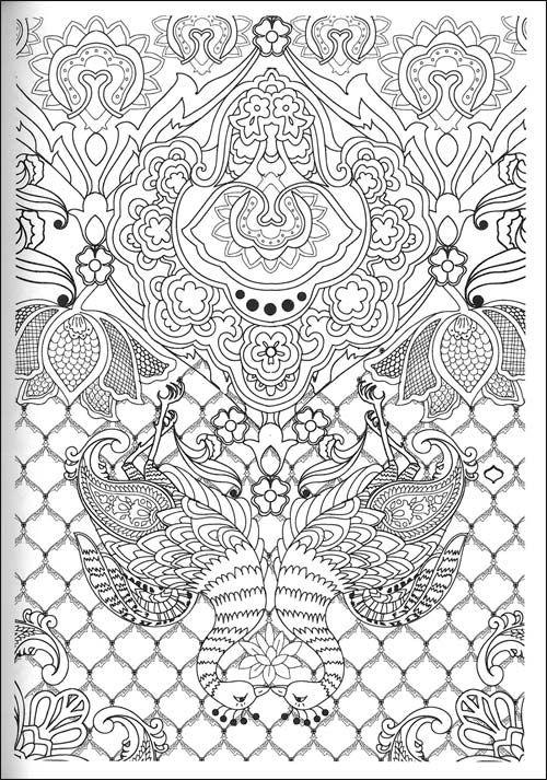 Beautiful peacock bird line art