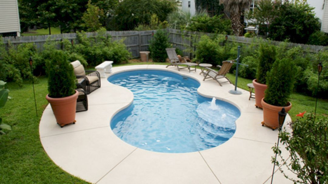 Top Tips To Design A Small Pool For A Family Of Four Small Pool Design Small Inground Pool Inground Pool Designs