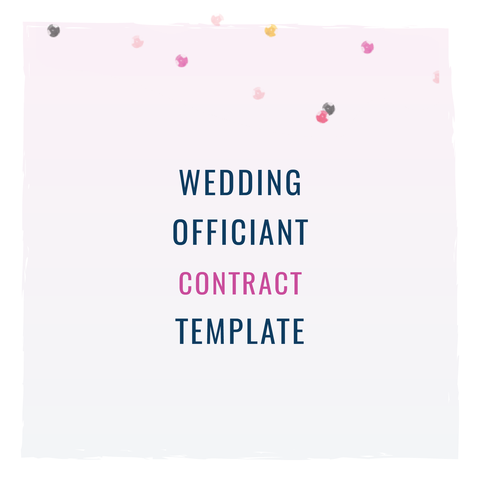 Wedding Officiant Contract Template PreOrder