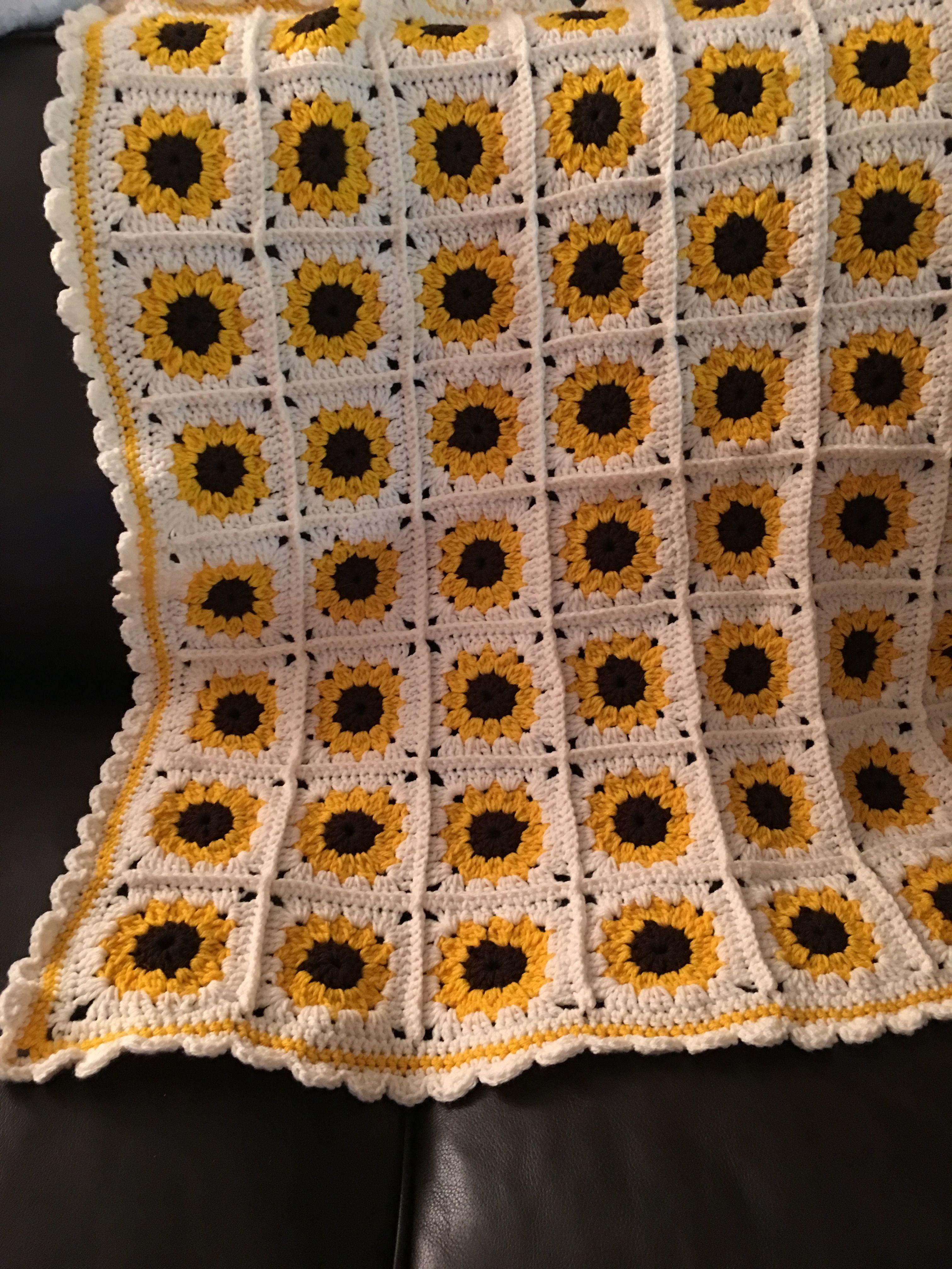 Crochet Sunflower Baby Blanket Crochet Sunflower Chevron Crochet Patterns Crochet Throw