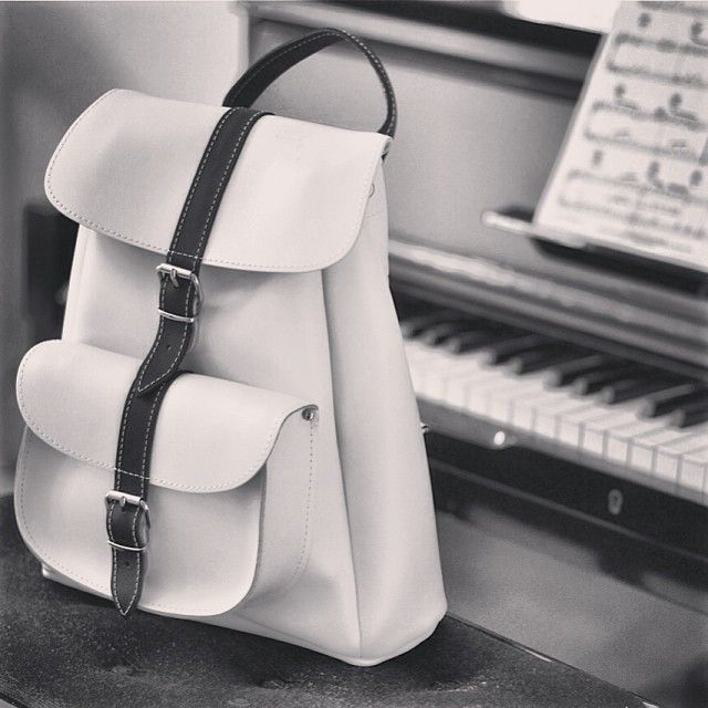 Piano black&white rucksack #grafea #backpack #rucksack .by grafea www.grafea.co.uk