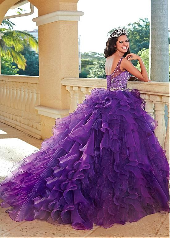 Chic Floor-length Ball Gown Quinceanera Dress | big poofy dresses ...