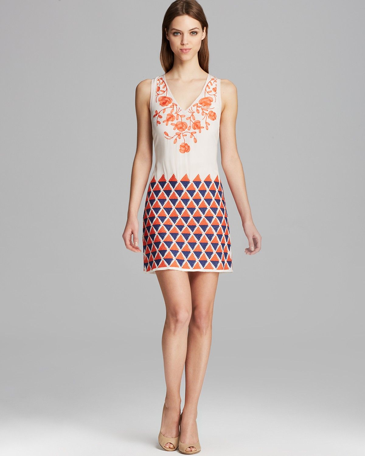 Tracy Reese Dress - Sleeveless Embroidered Shift   Bloomingdale's