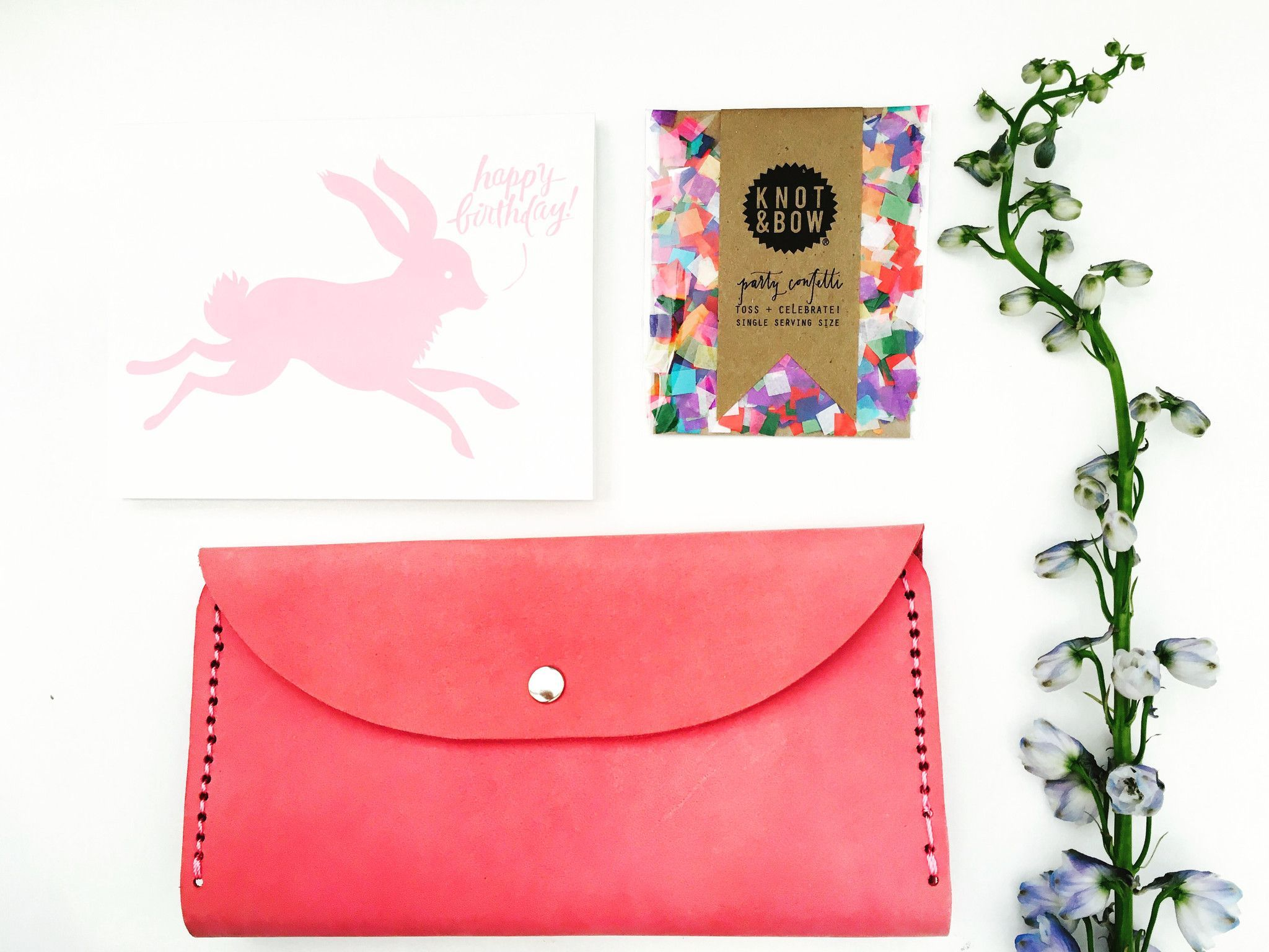 Leather wallet - Pink
