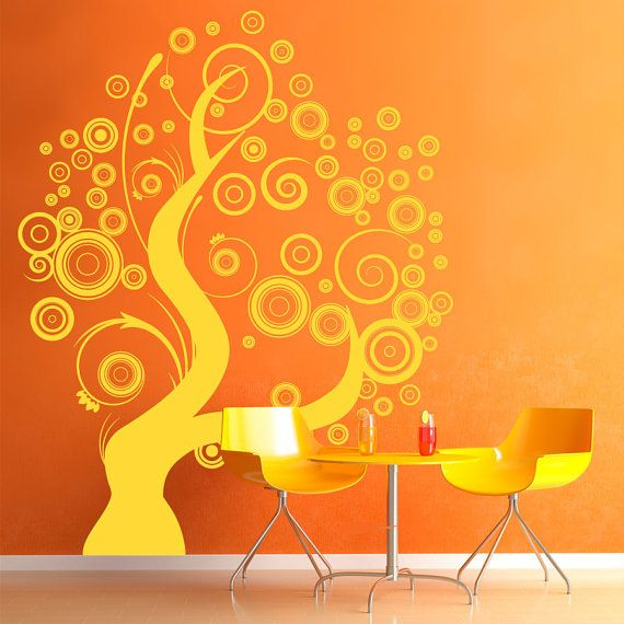 whimsical swirly circles tree wall decal 39 xwallumswalldecals