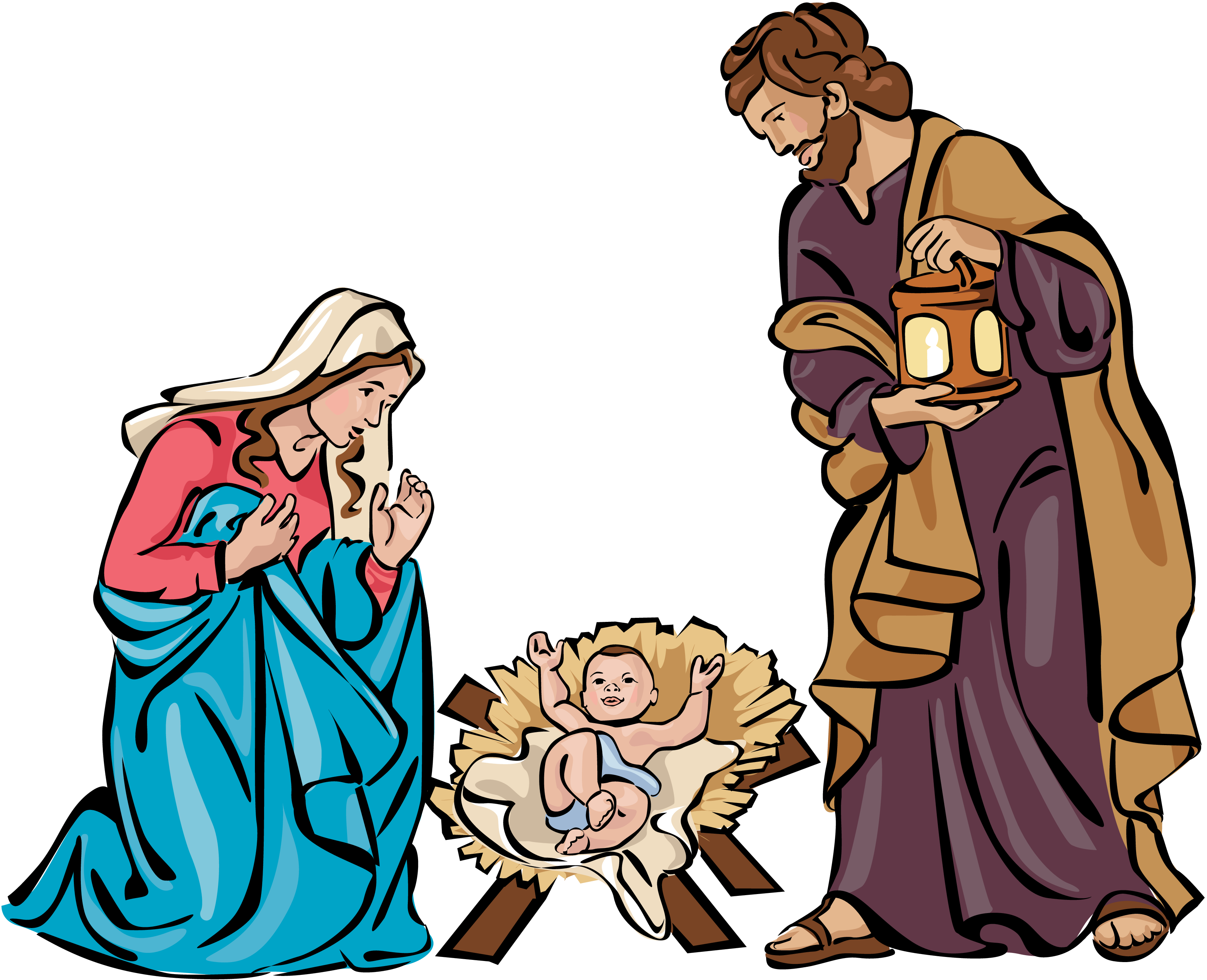 family photo with newborn ideas - christmas holy family clip art