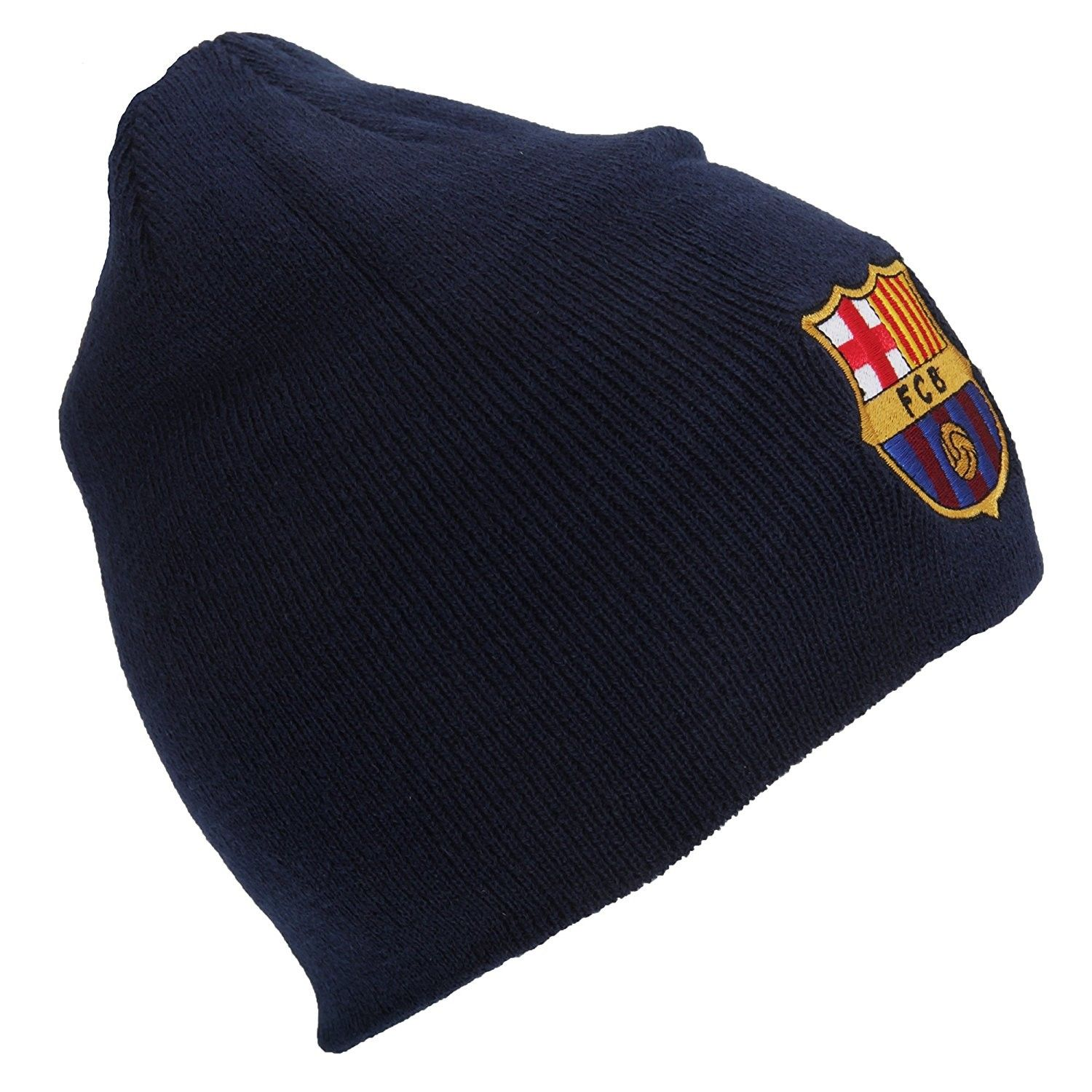 FC Barcelona Official Core Winter Soccer Football Crest Beanie Hat - Navy -  CD121V0LMSN - Hats   Caps 674b1ef933