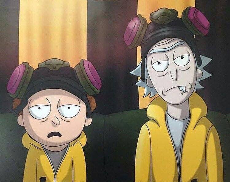 Rick And Morthy Breaking Bad Theme Fondos De Comic Personajes De Rick Y Morty Dibujos Animados