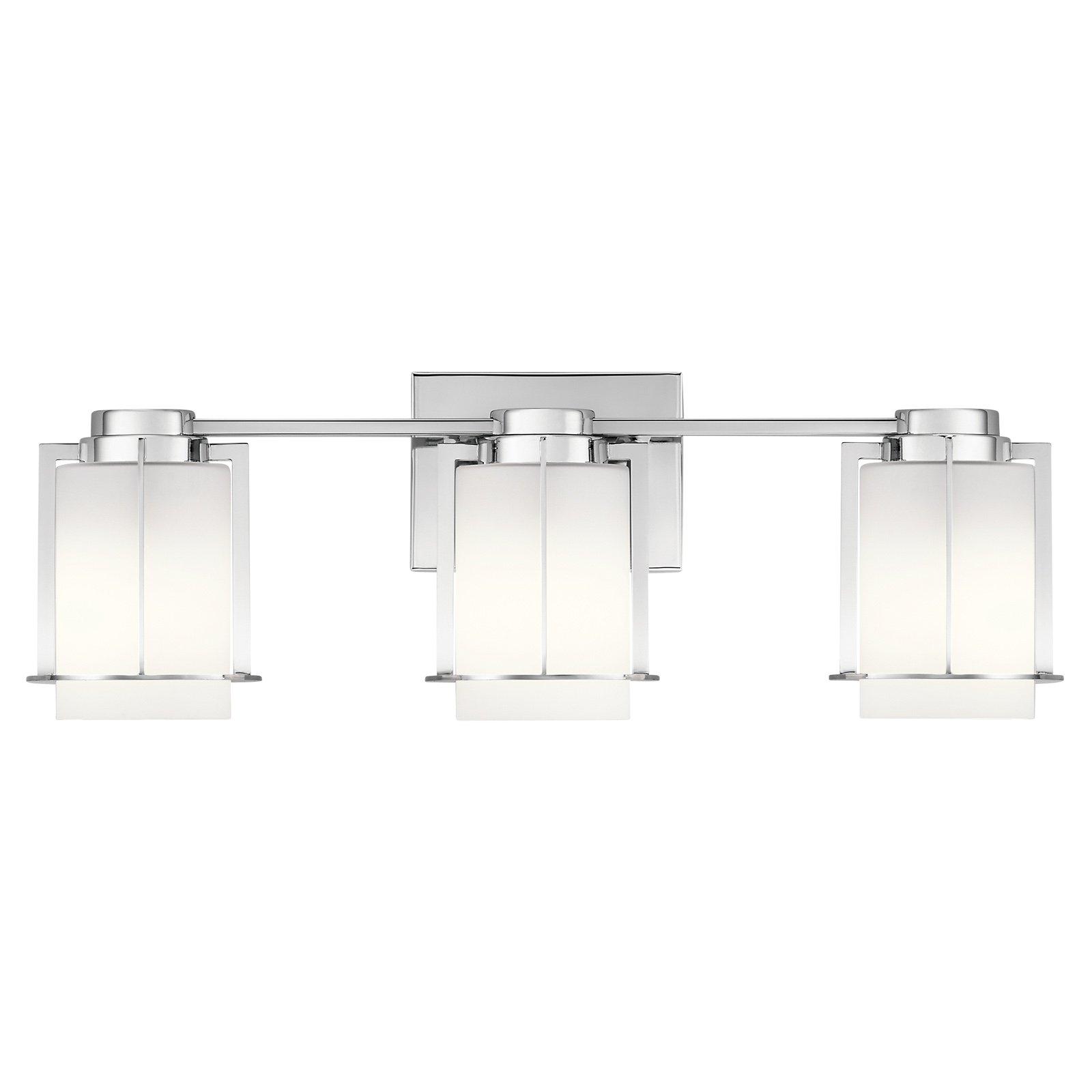 Kichler Chagrin 3 Light Bathroom Vanity Light Bathroom Vanity