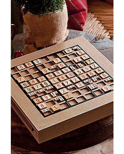 Wooden Sudoku Set   Eddie Bauer