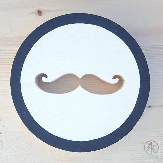 Hipster Mustache Wall Art, Great for men, boys or modern nursery ...