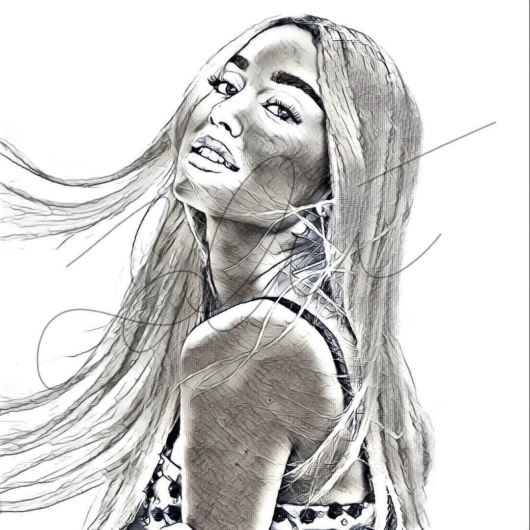 Ariana Grande Sketch Print ARIANA_SKETCH7 Sketches, Air