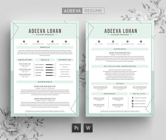 Creative Resume Template Lohan