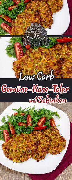 Thaler di verdure e formaggi a basso contenuto di carboidrati con prosciutto