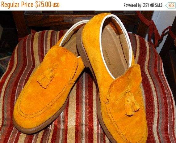 Vintage Men S Orange Suede Shoes Hush Puppies Vintage 1960 S Tassel View More On The Link Http Www Zeppy Io Prod With Images Suede Shoes Fall Oxfords Vintage Men