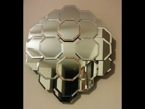 DIY Dollar Tree Panel Wall Mirror - YouTube DIY Pinterest - espejos con luz