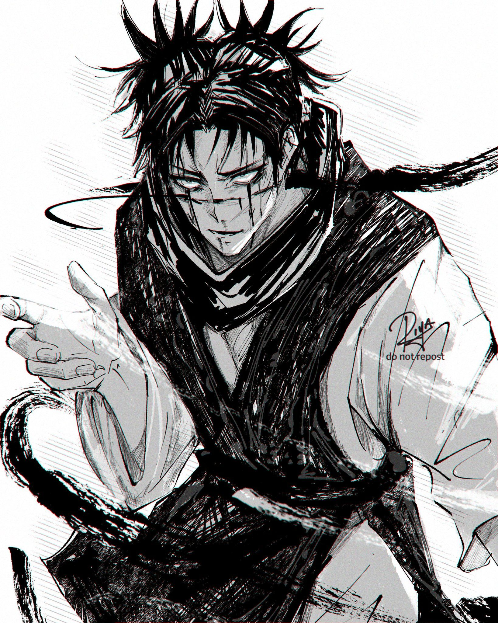 Megumi Fushiguro Stan First Human Second On Twitter Choso Vs Naoya In 2021 Jujutsu Gothic Anime Aesthetic Anime