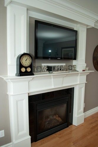 Placing The Above Fireplace Very Popular Right
