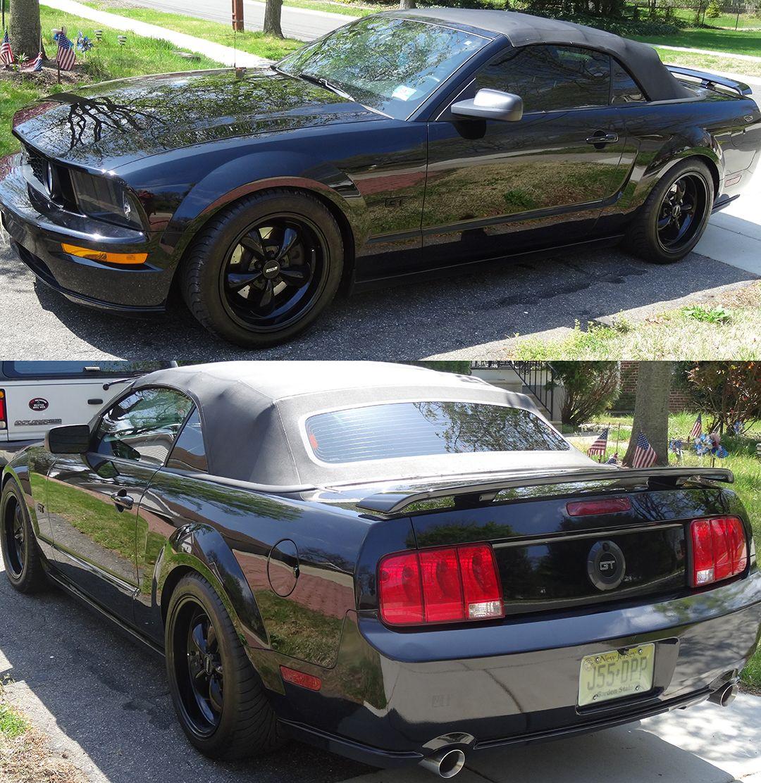 2006 Ford Mustang Gt Convertible Complete Auto Body Repair And Paint Job Black Bullitt Wheels Koni Front Rear Black Mustang 2006 Mustang 2006 Mustang Gt