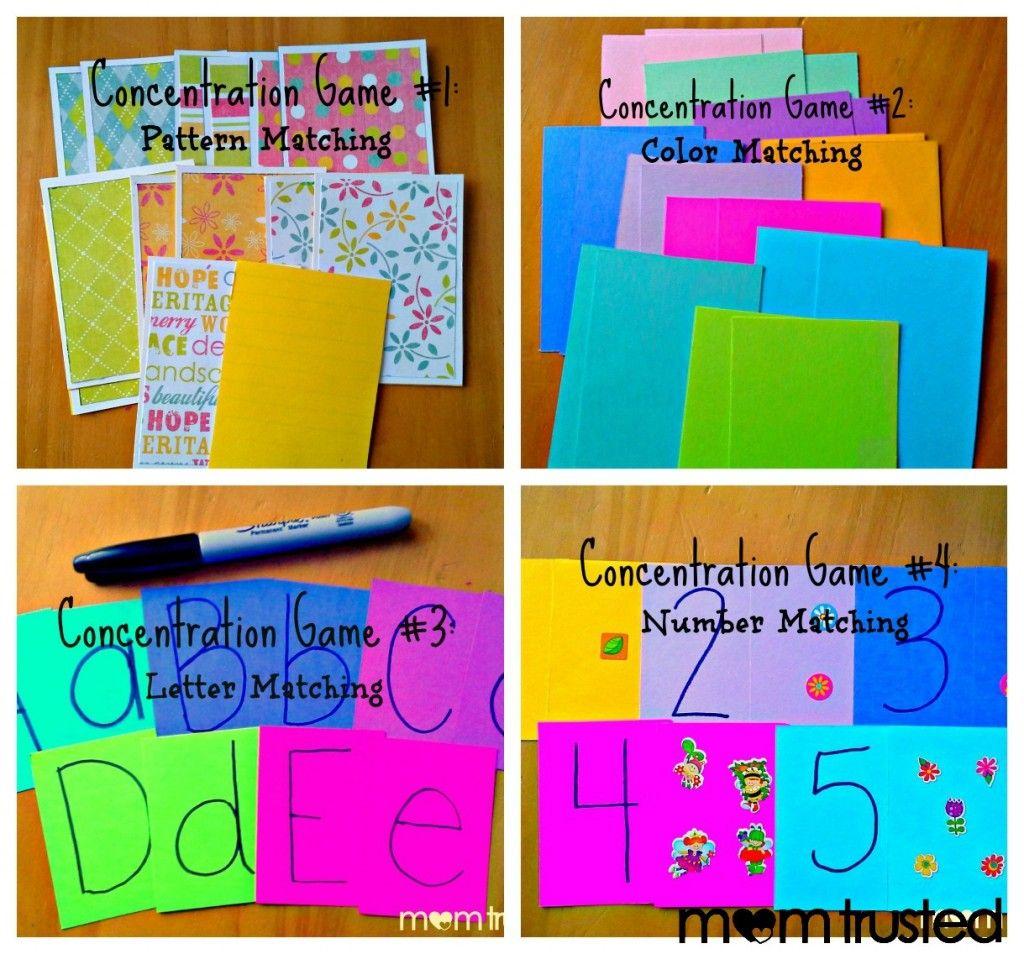 Diy concentration preschool games math activities