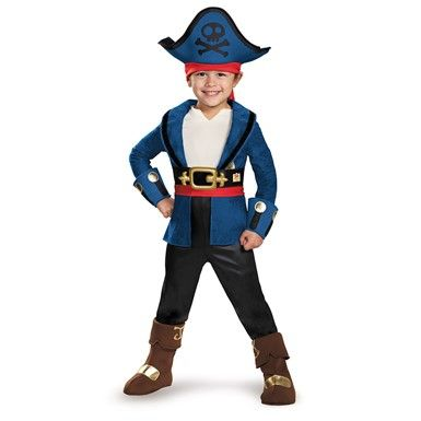 Toddler Deluxe Neverland Pirates Captain Jake Costume Pirate - halloween costume ideas 2016 kids